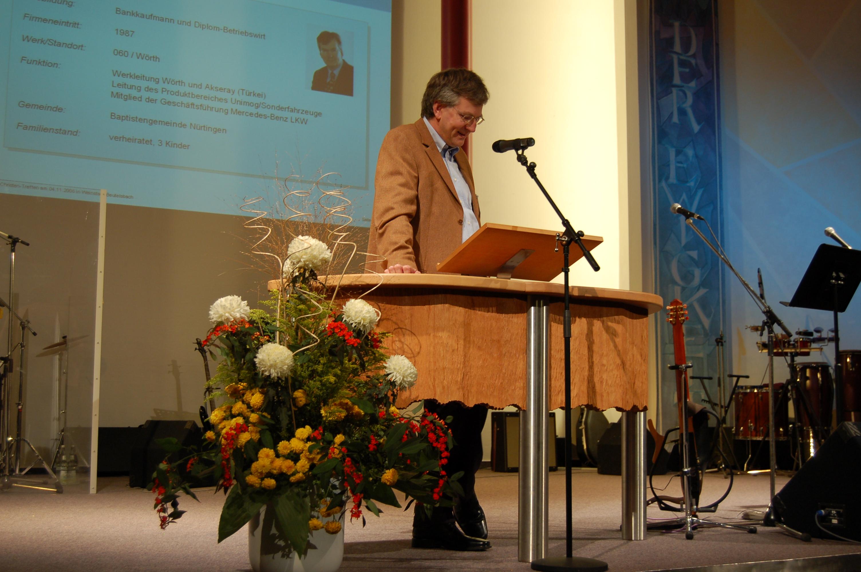 1. Daimler-Christen-Treffen - Martin Daum